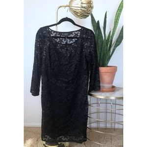Laundry by Shelli Segal black lace dress size 10
